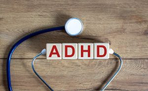 ADHD wording and a stethoscope